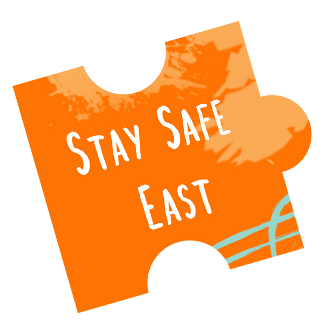 stay safe east puzzle piece